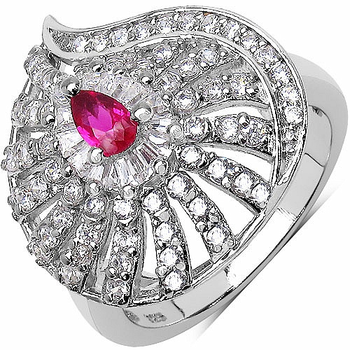 5.80 Grams Pink Cubic Zirconia & White Cubic Zirconia.925 Sterl