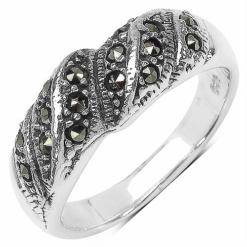 5.80 Grams Marcasite .925 Sterling Silver Ring