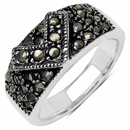 8.30 Grams Marcasite .925 Sterling Silver Ring