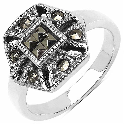 4.70 Grams Marcasite .925 Sterling Silver Ring