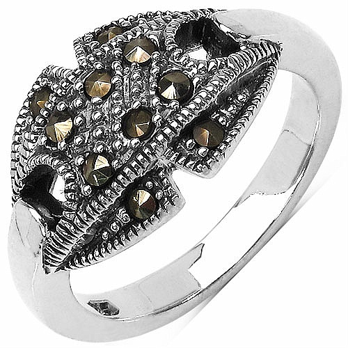 5.70 Grams Marcasite .925 Sterling Silver Ring