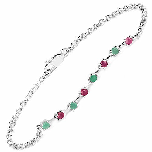 0.66CTW .925 Sterling Ruby & Emerald Rakhi