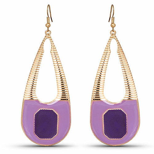 Contemporary Multi Colored Enemal Dangle Earring For Women