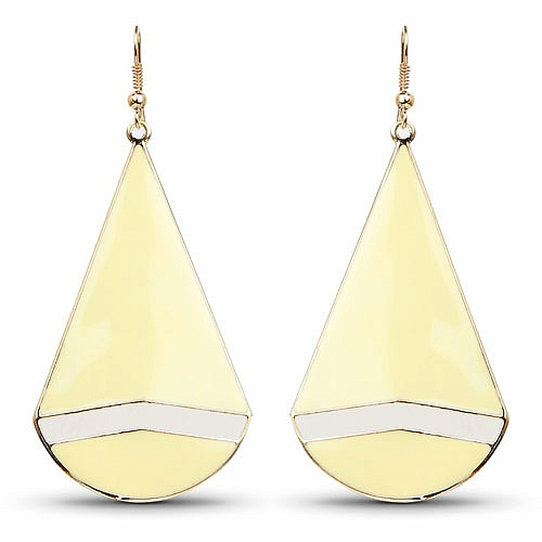 Contemporary Yellow Gold Plated Dangle Earrings For Her