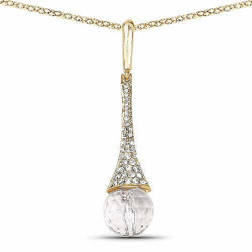 Rose Gold Plated Crystal Studded Fashion Drop Pendant