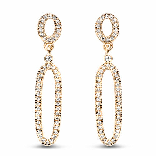 0.43CTW White Diamond 14K Yellow Gold Earrings