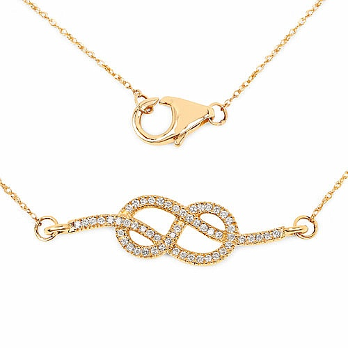 0.22CTW White Diamond 14K Yellow Gold Pendant