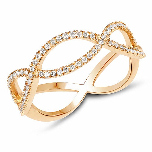 0.30CTW White Diamond 14K Yellow Gold Ring
