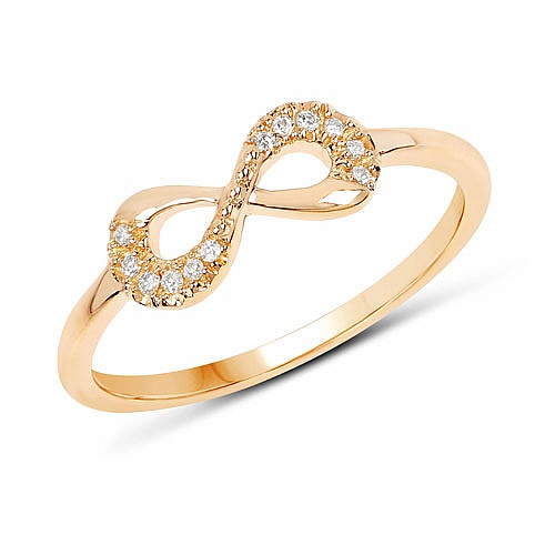 0.05CTW White Diamond 14K Yellow Gold Ring