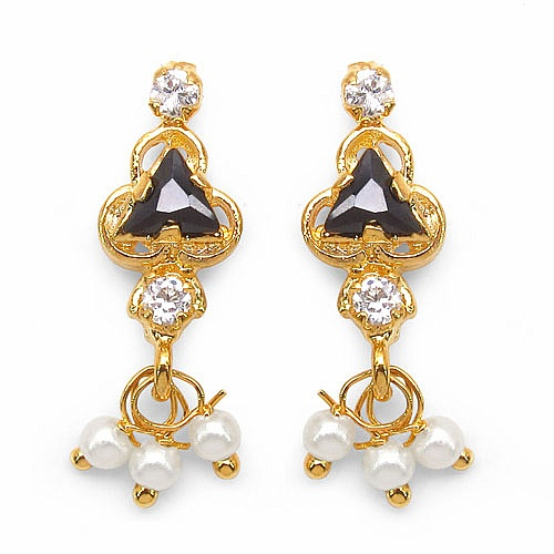 2.90 Grams Black Cubic Zirconia & White Cubic Zirconia Brass To