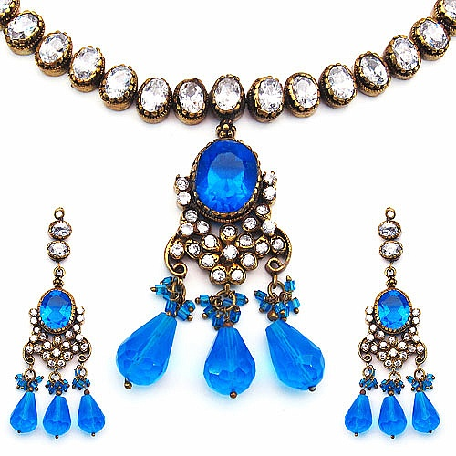 76.50 Grams Blue Cubic Zirconia, White Cubic Zirconia & Blue
