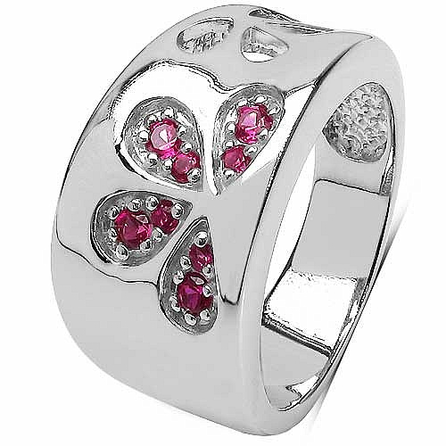 0.28CTW Pink Cubic Zirconia .925 Sterling Silver Ring