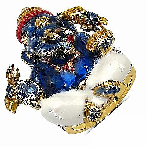 16.20 Grams Gold Plated .925 Sterling Silver Multicolor Enamel