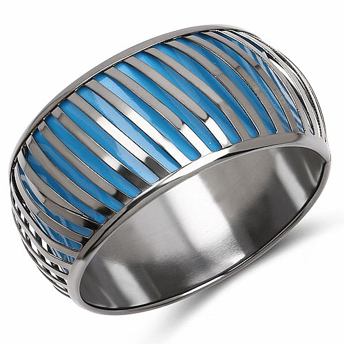 Sky Blue And Silver Toned Incredible Bangle For Women