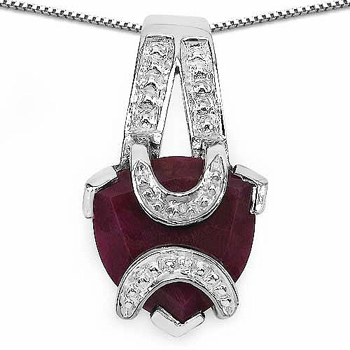 3.50CTW 10.00mm Trillion Shape Dyed Ruby .925 Sterling Silve