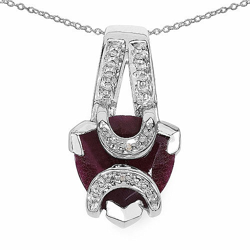 8.00CTW 16.00mm Trillion Shape Dyed Ruby .925 Sterling Silver S