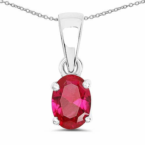 Oval Shape Pink Cubic Zirconia .925 Sterling Silver Solitair