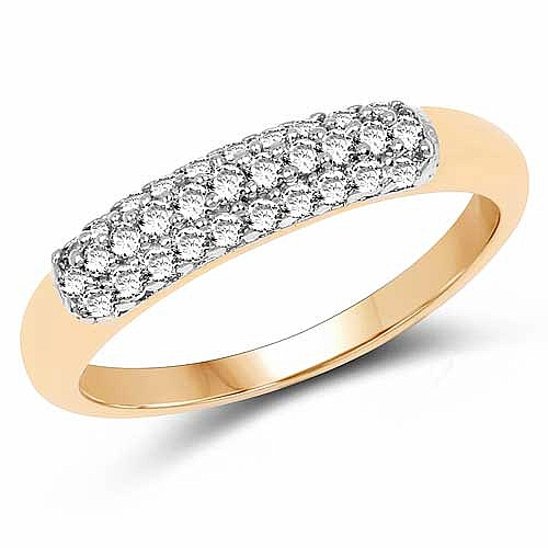 1.70 Grams White Cubic Zirconia Gold Plated Brass Ring
